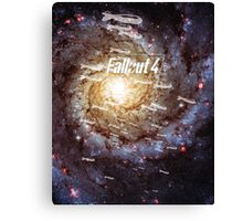 Fallout 4 Atomic Bombs and Galaxy Canvas Print