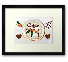 Coffee plant  and beans Framed Print