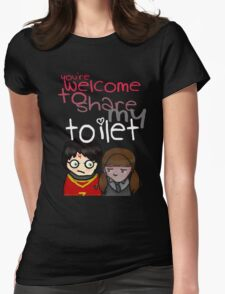 Toilet Womens Fitted T-Shirt