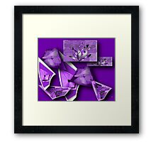 Collage in Purple Framed Print