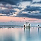 Merewether Ocean Baths - End of Day by Michael Howard