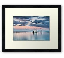 Merewether Ocean Baths - End of Day Framed Print