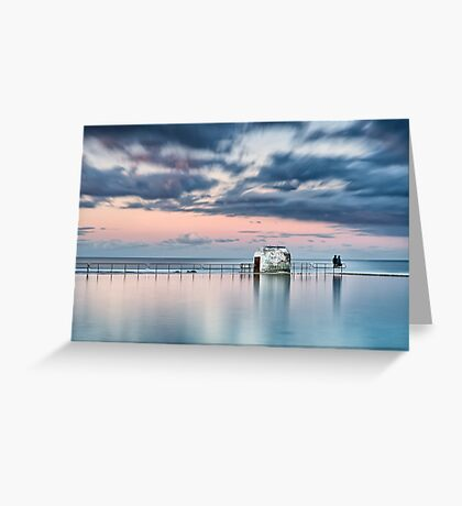 Merewether Ocean Baths - End of Day Greeting Card