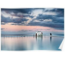 Merewether Ocean Baths - End of Day Poster