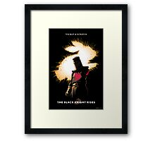 The Black Knight Rises Framed Print