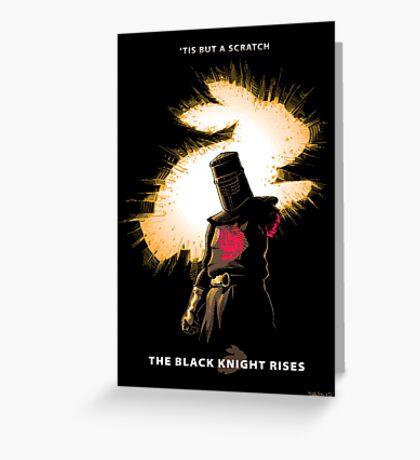 The Black Knight Rises Greeting Card