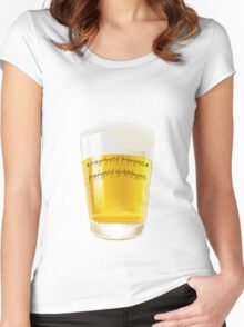 The one beer Women's Fitted Scoop T-Shirt