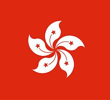 Hong Kong Flag - Umbrella Movement by deanworld