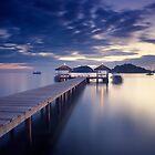 Pier at twilight by yurybird