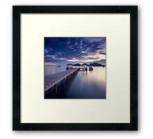 Pier at twilight Framed Print