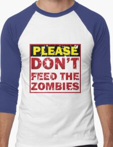 Don't feed zombies Men's Baseball ¾ T-Shirt