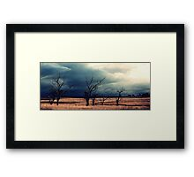 The relief of an Aussie drover Framed Print