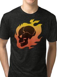 Persona 4: Kanji Tatsumi Summer Outfit Skull Tri-blend T-Shirt