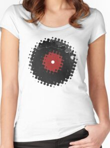 Grunge Vinyl Records Retro Vintage 50's Style T-Shirt! Women's Fitted Scoop T-Shirt