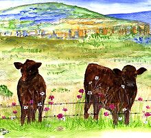Cows in the field by Elizabeth Kendall