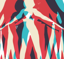 Piranha Girl Sticker