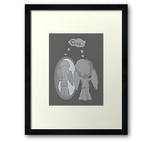 The image of an angel is an angel Framed Print