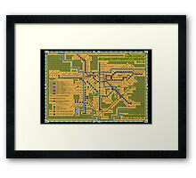 São Paulo City Metropolitan Transportation Map (Print Version) Framed Print