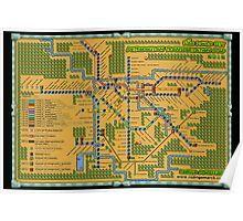 São Paulo City Metropolitan Transportation Map (Print Version) Poster