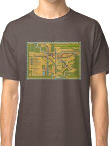 São Paulo City Metropolitan Transportation Map Classic T-Shirt
