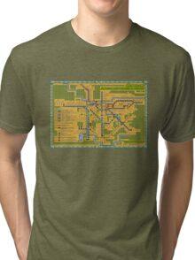 São Paulo City Metropolitan Transportation Map Tri-blend T-Shirt
