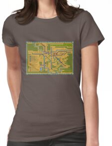 São Paulo City Metropolitan Transportation Map Womens Fitted T-Shirt
