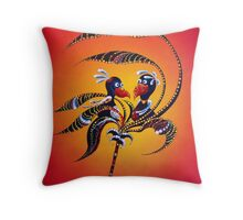 Lovers in a Storm Throw Pillow
