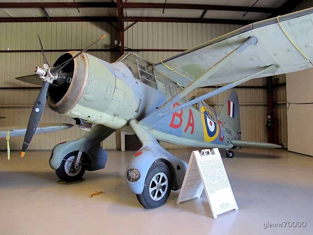 Port Side View - Canadian Lysander Aircraft by glennc70000