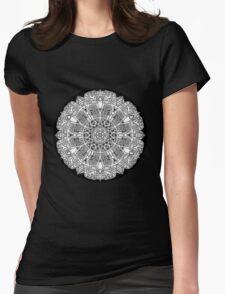 Mandala 47 Black and White T-Shirts & Hoodies Womens Fitted T-Shirt