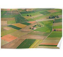 Landscape patchwork Poster