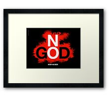 NO GOD Framed Print