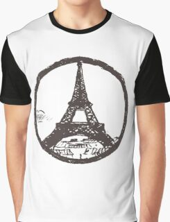 Eiffel Tower Peace Sign Graphic T-Shirt
