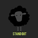 Stand out black sheep by Blacksheepmark