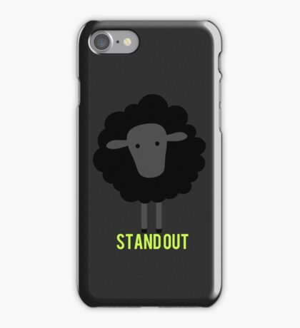 Stand out black sheep iPhone Case/Skin