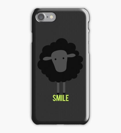 Smile little black sheep iPhone Case/Skin