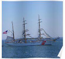 """US Coast Guard - Tall Ship """"Eagle"""" Poster"""