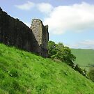Outer wall, Peveril Castle by Ross Sharp