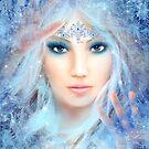 Snow queen. Winter beautiful woman. Portrait. Illustration by Alena Lazareva