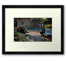 The outsider, Pienza, Tuscany, Italy Framed Print