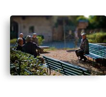 The outsider, Pienza, Tuscany, Italy Canvas Print