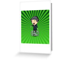 JackSepticEye   Top Of The Morning Greeting Card