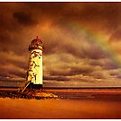 Old Lighthouse Talacre Point of Ayr by Mal Bray