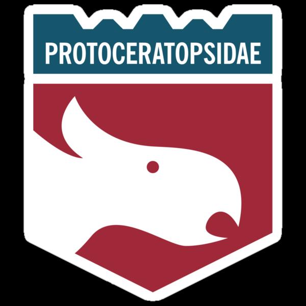 Dinosaur Family Crest: Protoceratopsidae by David Orr