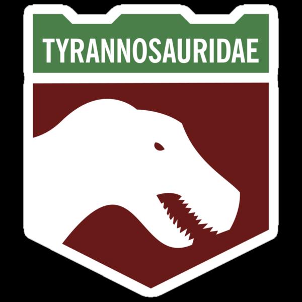 Dinosaur Family Crest: Tyrannosauridae by David Orr