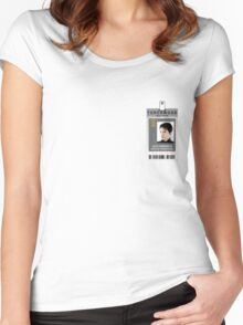 Torchwood Jack Harkness ID Shirt Women's Fitted Scoop T-Shirt