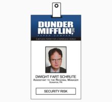 Dwight Schrute The Office ID Badge Shirt T-Shirt