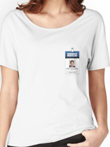 Dwight Schrute The Office ID Badge Shirt Women's Relaxed Fit T-Shirt