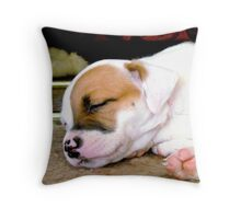Marlie sleeping Throw Pillow