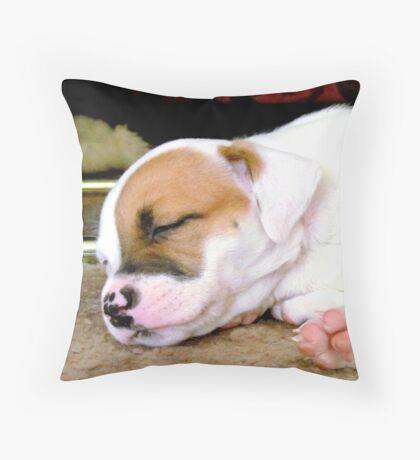 Marlie sleeping Throw Pillow
