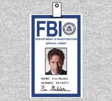 X-Files Fox Mulder ID Badge Shirt T-Shirt